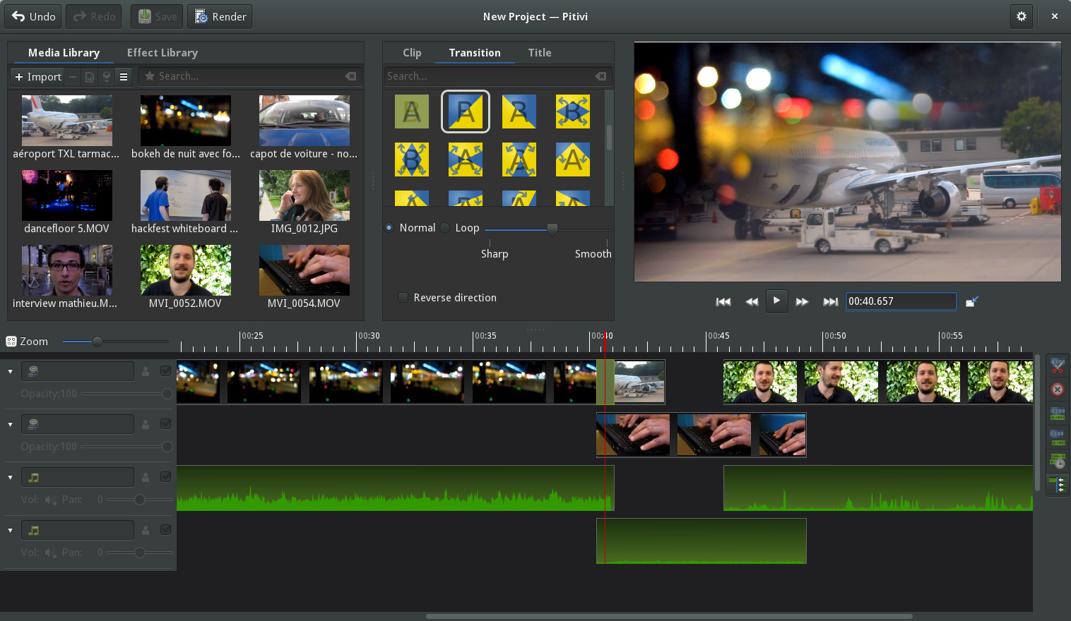 Do a video edit with the best linux software mymovielab Free photo software
